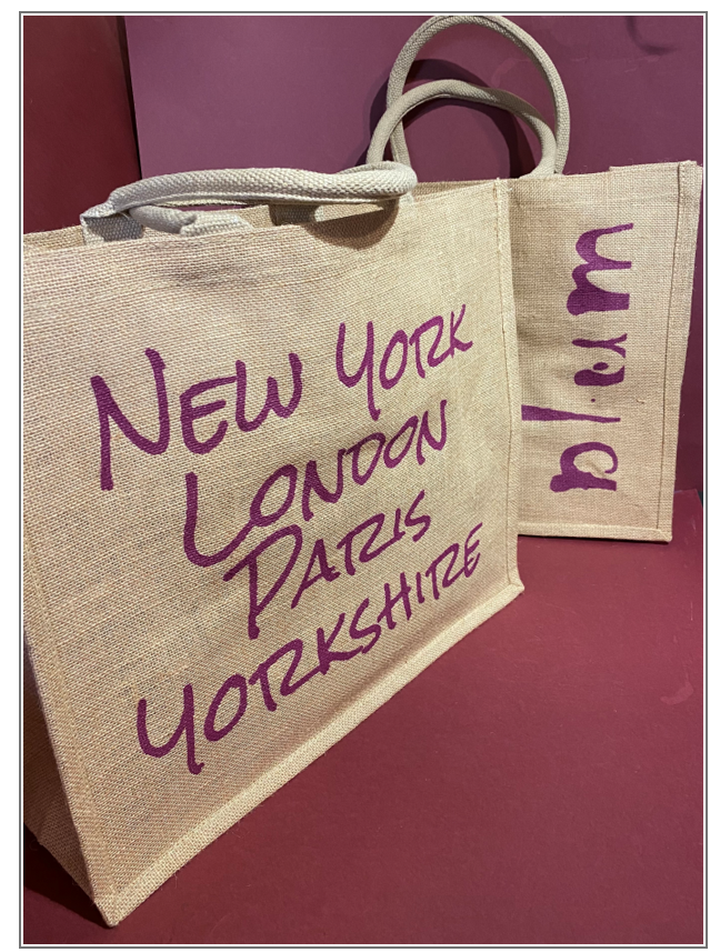 Plum Hessian Bag