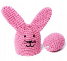 Cotton Crochet Bunny Egg Cosy and Egg Decoration
