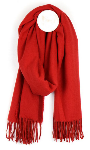 Red super soft recycled scarf
