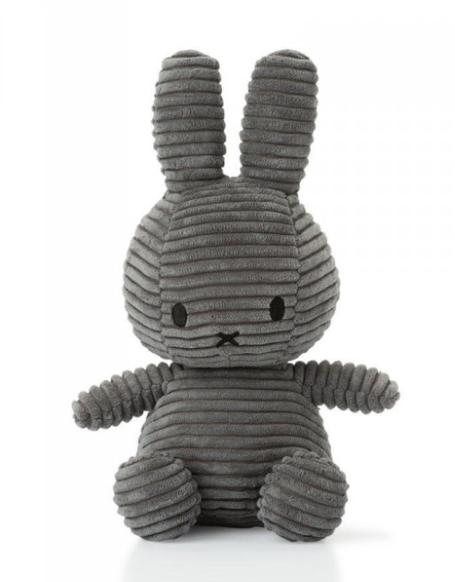 Miffy Sitting Corduroy Grey
