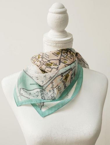 Scarf - Map of Venice