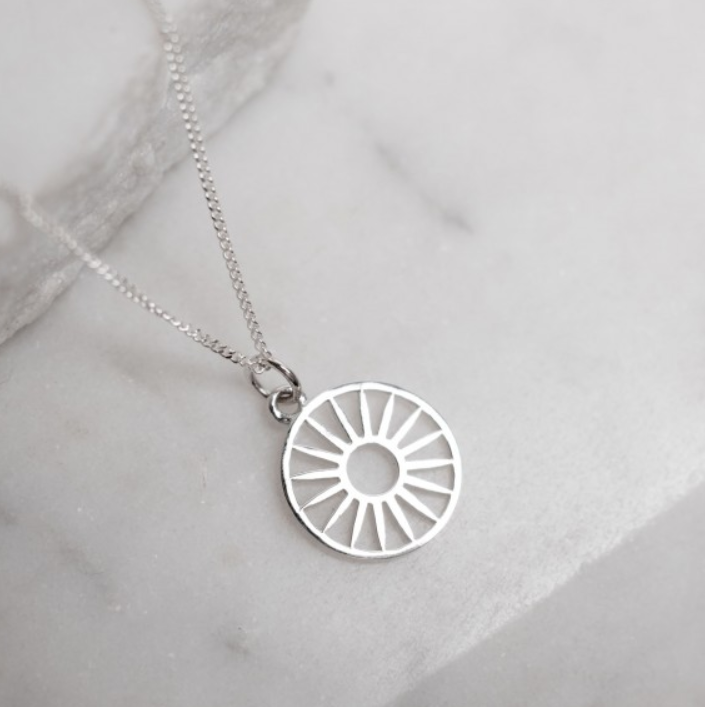 Token Charm Necklace Wagon Wheel