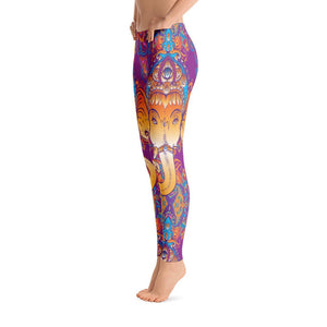Ganesha Yoga Leggings -  Yoga Pants