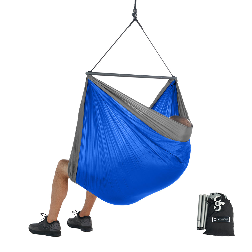 Foldable Hanging Chair - Portable Hammock Chair - Blue-Grey