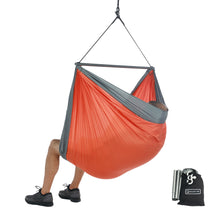 Foldable Hanging Chair - Portable Hammock Chair - Orange-Grey