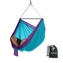 Foldable Hanging Chair - Portable Hammock Chair - Sky Blue-Purple