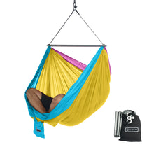 Foldable Hanging Chair - Portable Hammock Chair - Tri-Color-Retro