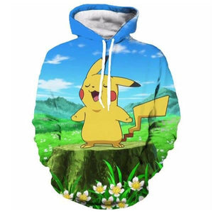 PIKACHU SINGING  3D HOODIE - POKEMON JACKET - Hoodies Universe