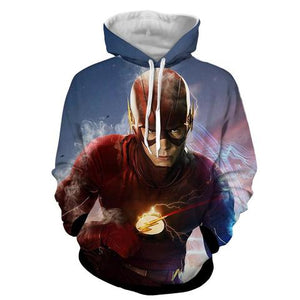 Angry Flash 3D Printed Hoodie - The Flash Jacket - Star Lab Hoodie - Hoodies Universe
