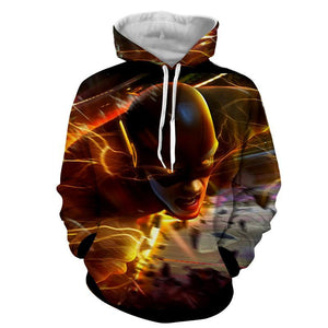Flying Flash 3D Printed Hoodie - The Flash Jacket - Star Lab Hoodie - Hoodies Universe
