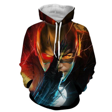 Flash In Action 3D Printed Hoodie - The Flash Jacket - Star Lab Hoodie - Hoodies Universe
