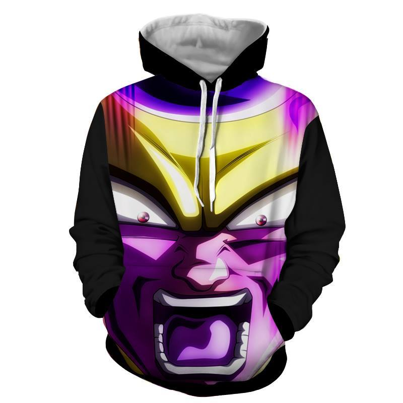 Dragon Ball Z Hoodie - Frieza Gold 3D Hoodie - Jacket