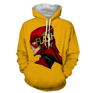 Flash 3D Printed Yellow Hoodie - The Flash Jacket - Star Lab Hoodie - Hoodies Universe
