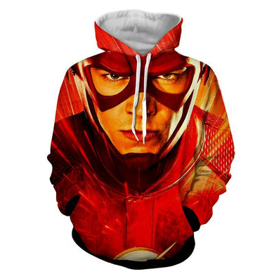 Flash 3D Printed Hoodie - The Flash Jacket - Star Lab Hoodie - Hoodies Universe