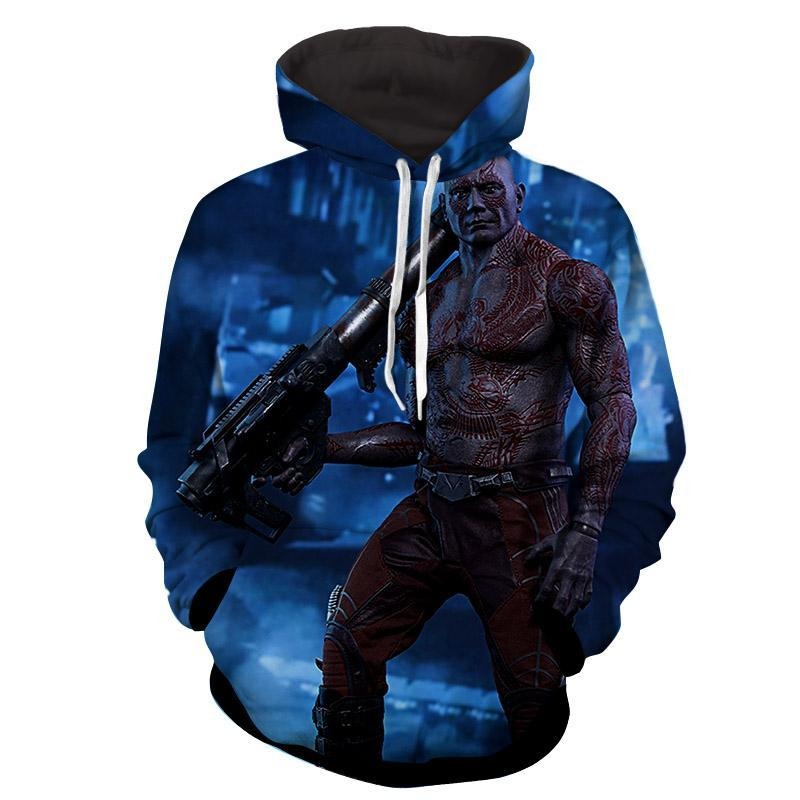 Drax the Destroyer 3D Hoodie-Guardian Of Galaxy Jacket