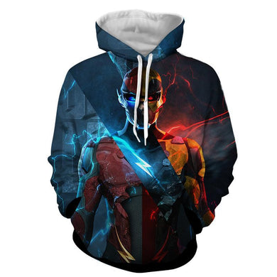Flash 3D Printed Neon Hoodie - The Flash Jacket - Star Lab Hoodie - Hoodies Universe