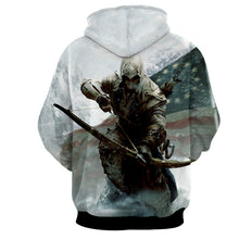 Assassin's Creed 3D Hoodie - Connor Hoodie - Assassin's Creed Jacket - Hoodies Universe