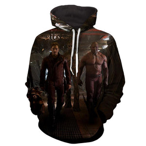 ‎Peter Quill-Drax-Rocket-Groot Hoodie - Guardian Of Galaxy Jacket