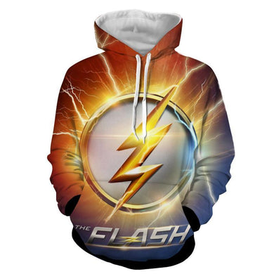 Flash Sign 3D Printed Hoodie - The Flash Jacket - Star Lab Hoodie - Hoodies Universe
