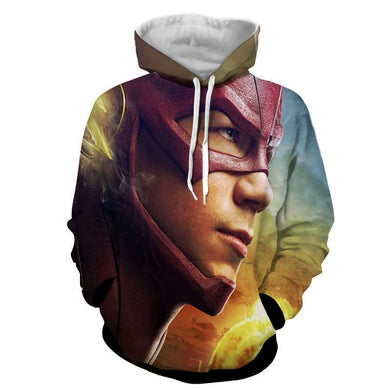 DC Flash 3D Printed Hoodie - The Flash Jacket - Star Lab Hoodie - Hoodies Universe