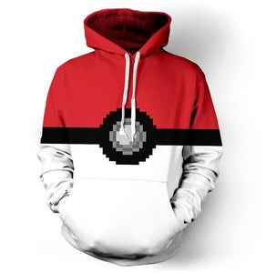 POKEMON POKE BALL PIXELATED 3D HOODIE - POKEMON JACKET - Hoodies Universe