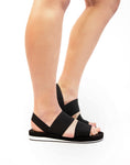 Double Strap Black sandal