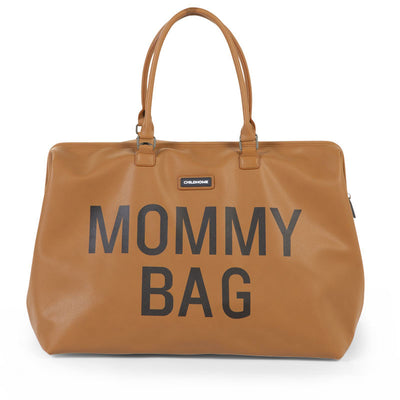 Mommy bag large simili cuir brun - Loupilou