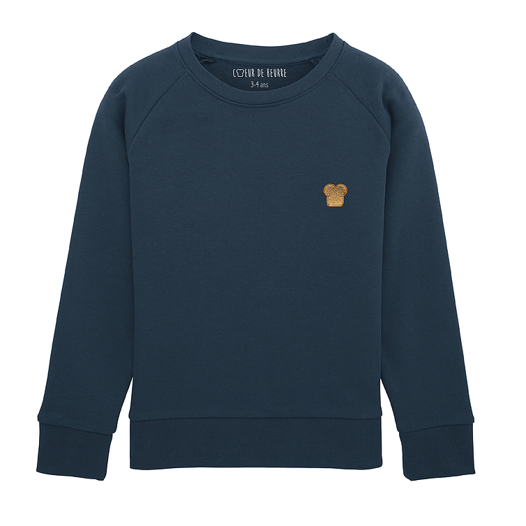 Sweat brioche bleu marine