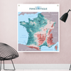 Carte de France Physique - Loupilou