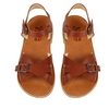 Sandales adultes marron cuir loupilou young soles