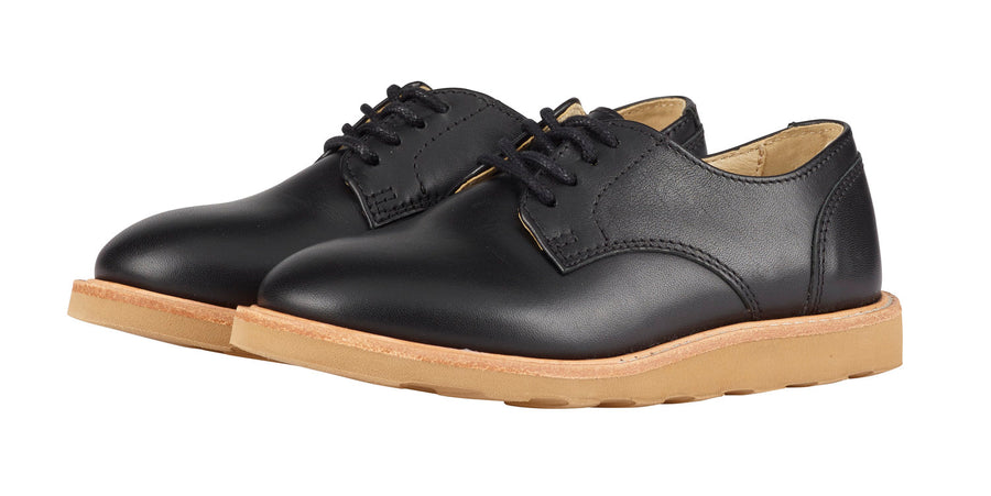 Derbies Reggie en cuir noir (adultes)