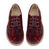Derbies Bobby en velours rouge - Loupilou