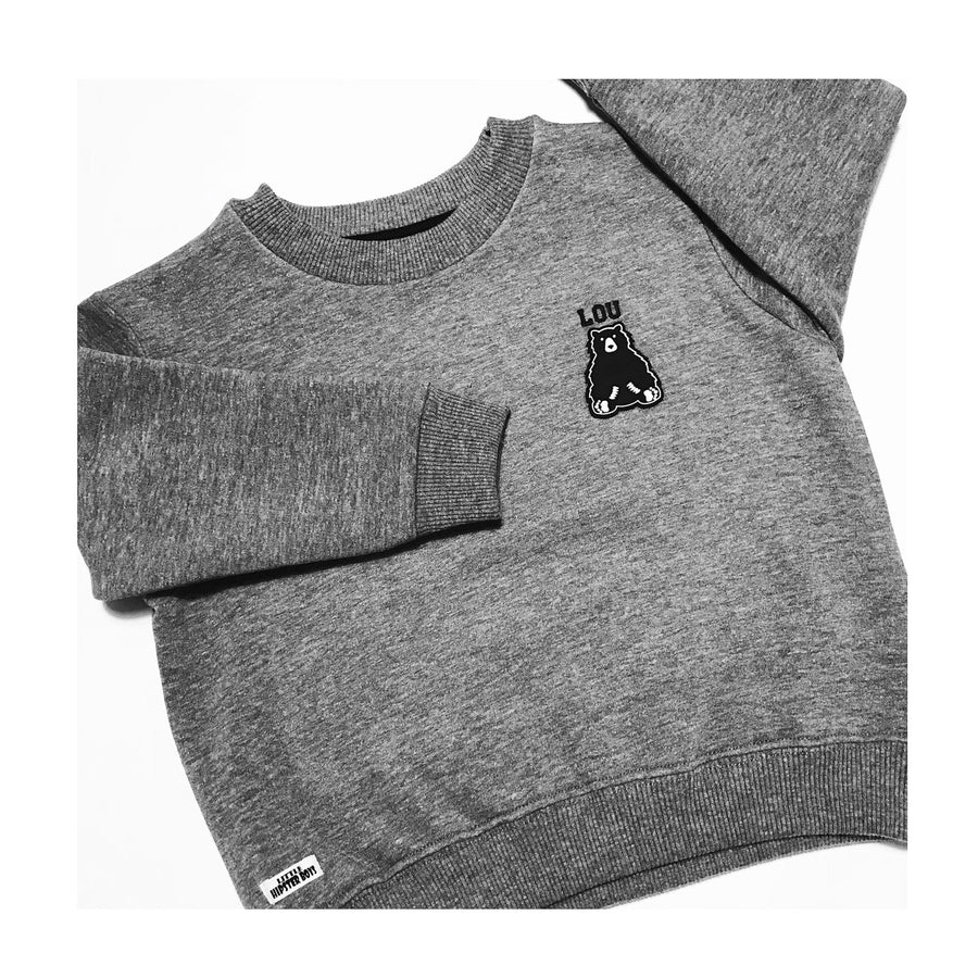 Sweat personnalisable made in France enfant gris