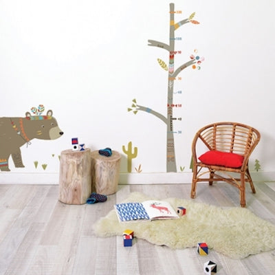 Sticker XL ours indien chambre enfant Lilipinso Loupilou