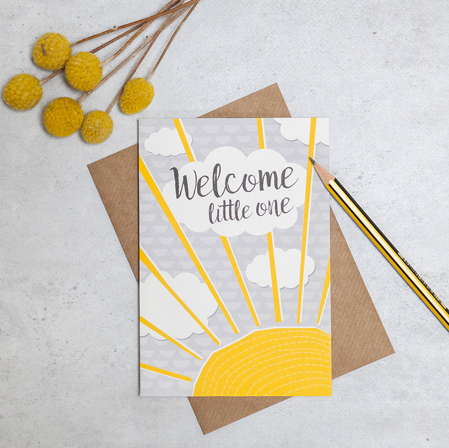"Carte ""Welcome little one"" - Loupilou"