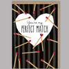 "Carte ""You're my perfect match"" - Loupilou"