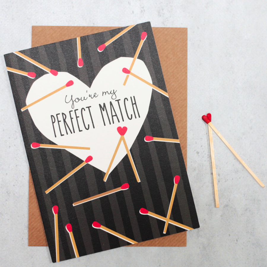 "Carte ""You're my perfect match"""