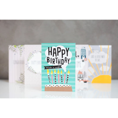 "Carte ""Happy Birthday - make a fish"" - Loupilou"