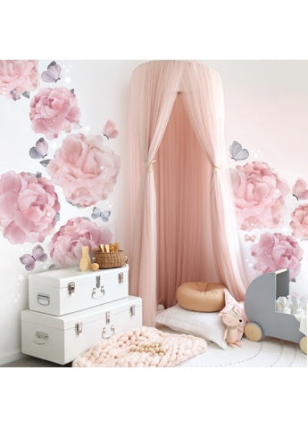 Schmooks Peonies & Butterflies Wall Sticker