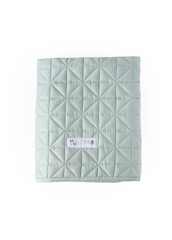 MOLLY & MOO QUILTED BLANKET MUTED JADE