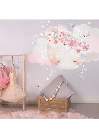 Schmooks Sleepy Moon Wall Sticker - Pinks