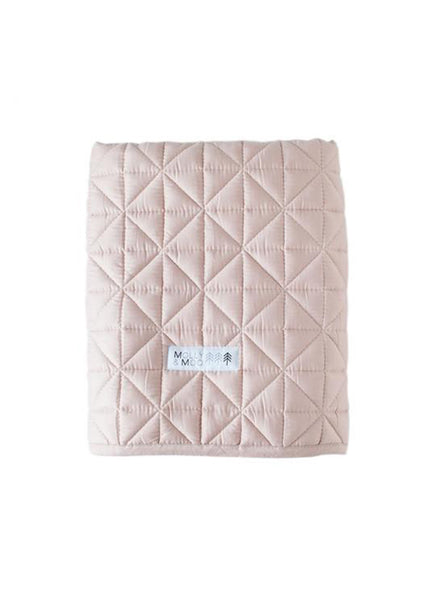MOLLY & MOO QUILTED BLANKET BLUSH