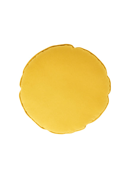 SACK ME! ROUND CUSHION MUSTARD