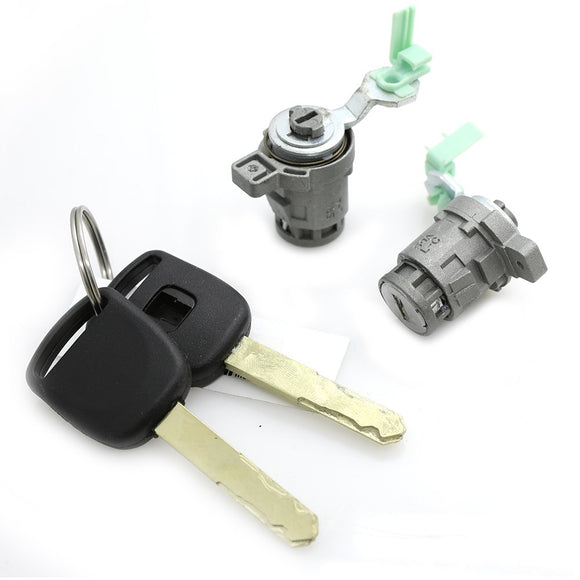 Left & Right Door Lock Cylinder+2 Keys For 02-06 Honda CR-V 2.4L 72185-S9A-013 - #07059-21360
