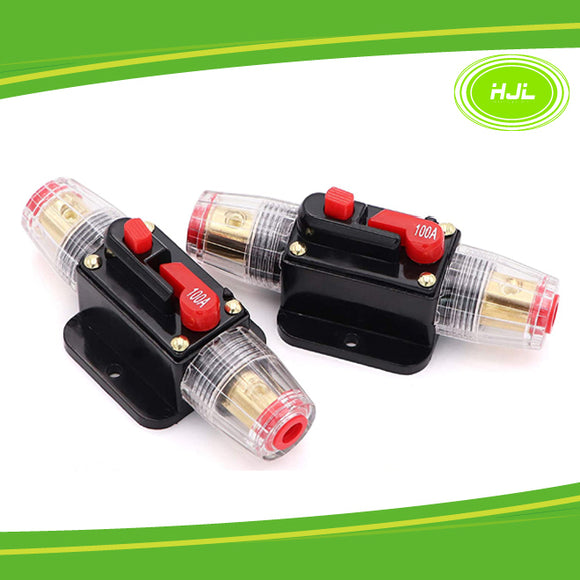 100A Reset Fuse Holder with Manual Reset for 12V-24V DC car boat marine 2PCS - #FUSEO-70102