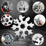 18 in 1 Snowflake MultiTool bottle opener keychain screw driver set -Black - #TOKIT-99181