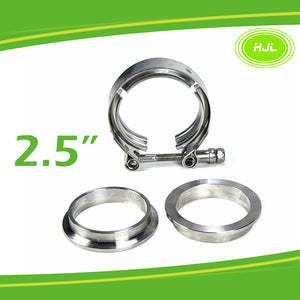 2.5 exhaust clamp 304 Stainless Steel V-band T-bolt Mild Steel Flange 3pcs set - #TOKIT-99025