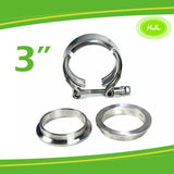 "3"" Exhaust Pipe Clamp Vband Mild Steel flanges Clamp Strong T-bolt 304 stainless - #TOKIT-99030"