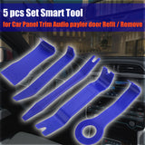 5 Pcs Car Door Trim Audio Stereo GPS Panel Moulding Pro Removal Install Pry Tools - #TOKIT-99805