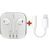 EarPod Earphone+Lightning to 3.5mm Headphone Jack Adapter For iPhone X 8 7 6 5 4 - #AE-8910